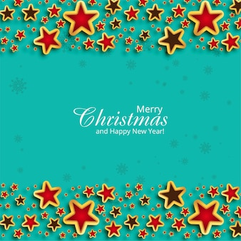 Piękne tło kartki świąteczne z błyszczącymi gwiazdami