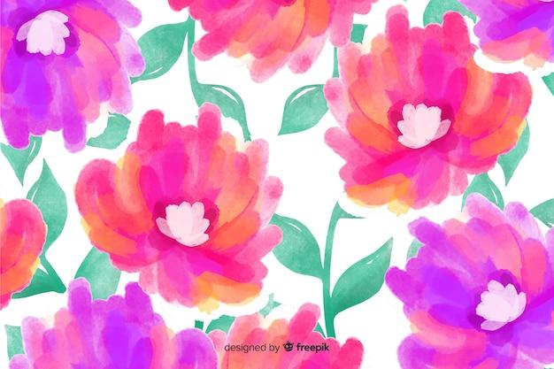 Piękne tło kwiatowy akwarela