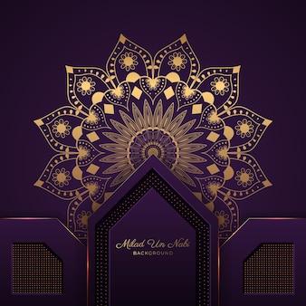 Piękne tło mandali na festiwal islamski