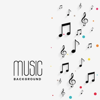 Piękne tło muzyczne notatki z copyspace