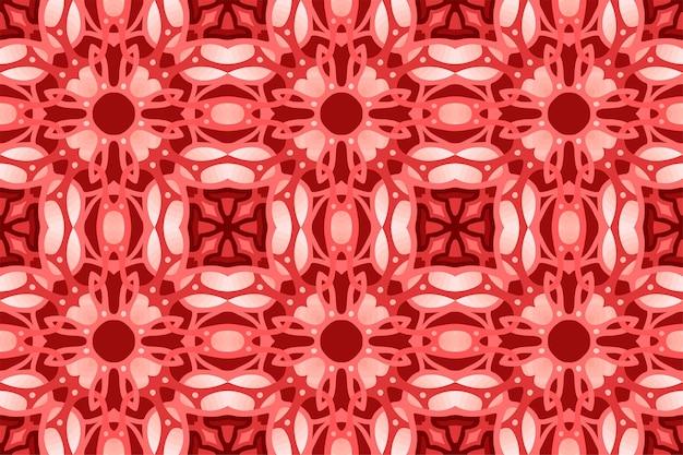 Piękne tło sieci web z czerwonym abstrakcyjny wzór płytki bez szwu