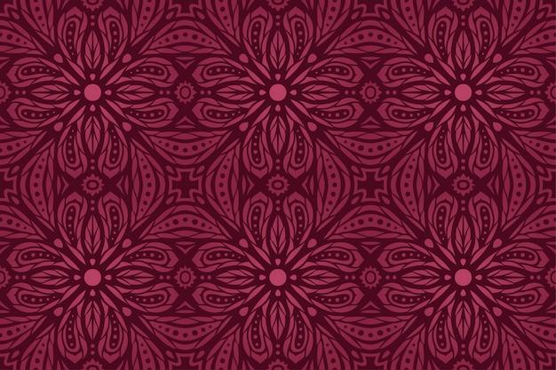 Piękne tło wektor z abstrakcyjnym fioletowym rocznika kwiatowy wzór bezszwowe kafelkowy