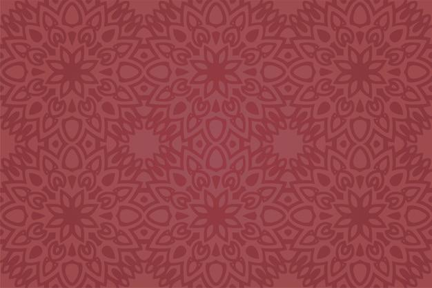 Piękne tło wektor z abstrakcyjnym kolorowym czerwonym kwiatowym wzorem bez szwu