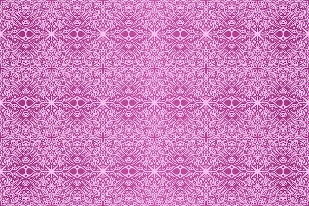 Piękne tło wektor z abstrakcyjnym kolorowym różowym plemiennym bezszwowym wzorem