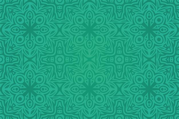 Piękne tło wektor z abstrakcyjnym kolorowym zielonym wzorem bez szwu