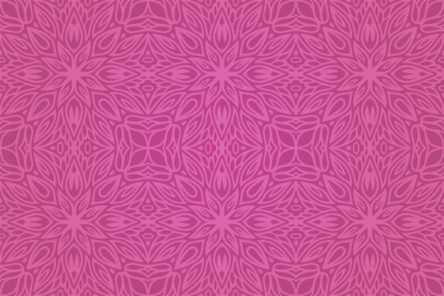 Piękne tło wektor z kolorowym różowym kwiatowym wzorem bez szwu