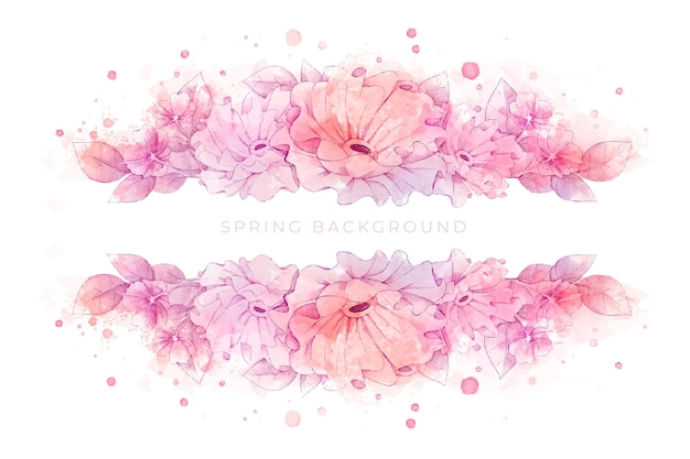 Piękne tło wiosna akwarela