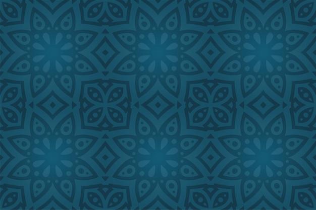 Piękne tło z abstrakcyjnym kolorowym ciemnoniebieskim wzorem bez szwu o kształcie gwiazdy