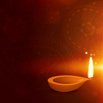 Piękne tło z diwali diya diwali powitanie