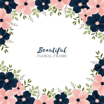 Piękne tło z ramą kwiatowy