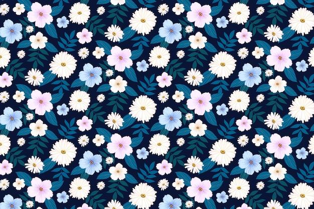 Piękne tło z różnych kwiatów