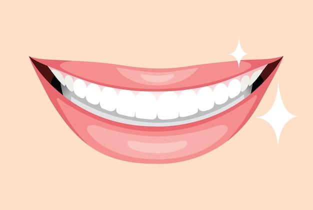 Piękne usta, uśmiech i zęby