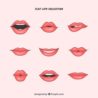 Piękne usta zestaw