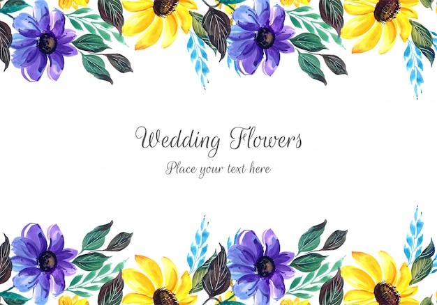 Piękne wesele zaproszenie z kwiatami
