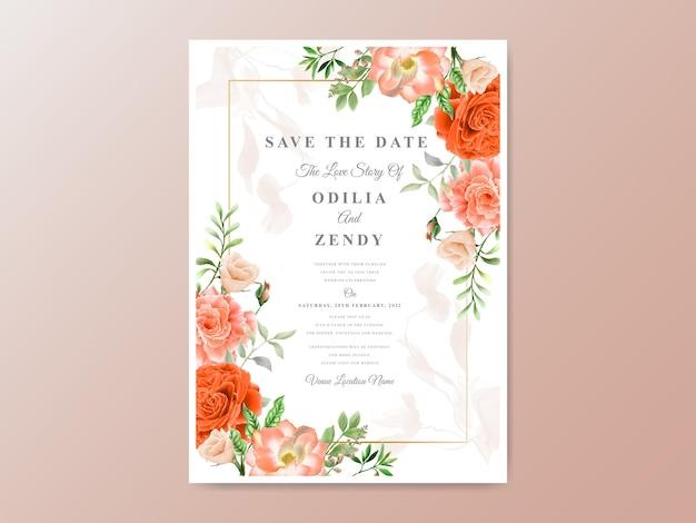 Piękne zaproszenia ślubne kwiatowy