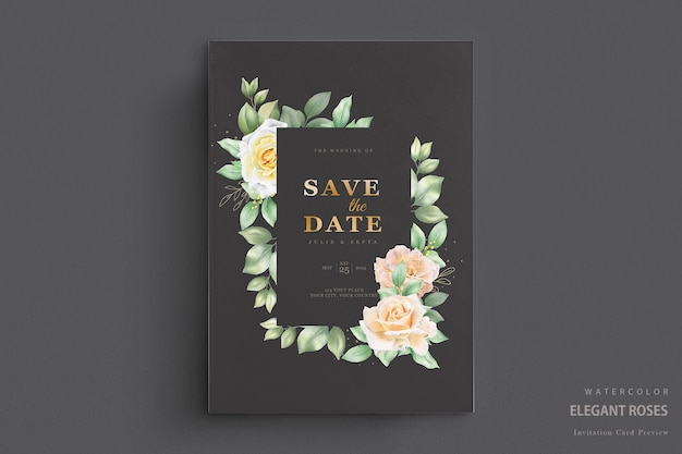 Piękne zaproszenie na ślub akwarela