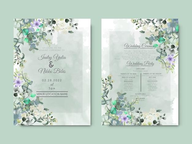 Piękne zaproszenie na ślub z artystyczną koncepcją kwiatową