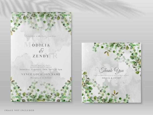 Piękne zaproszenie na ślub z eleganckimi ręcznie rysowane kwiatowy