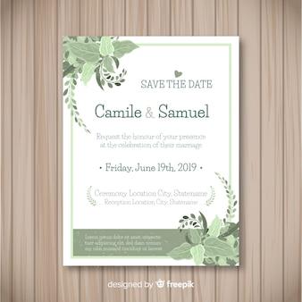 Piękne zaproszenie na ślub z liści wyciągnąć rękę