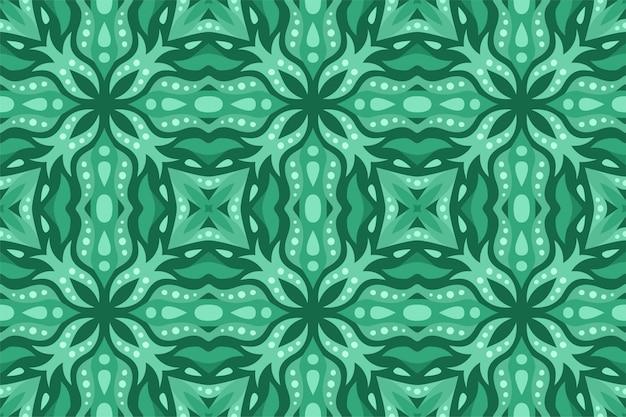 Piękne zielone tło z abstrakcyjnym wzorem bez szwu płytek