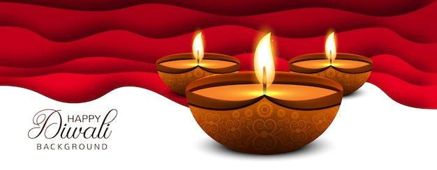 Pięknego diwali diya festiwalu lampy festiwalu nafciany tło