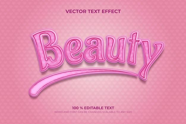 Piękno edytowalnego efektu tekstowego 3d z różowym stylem miłości
