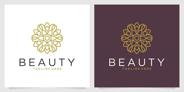 Piękno eleganckiego projektu logo geometrii kwiatu