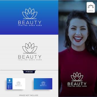 Piękno kosmetyki linii logo sztuki wektor ikona elementu