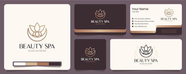 Piękno kwiat, lotos, spa, równowaga, projektowanie wizytówek i logo