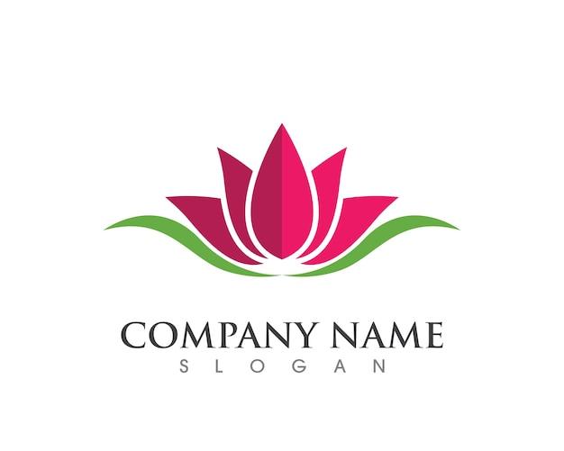 Piękno kwiatów logo szablon