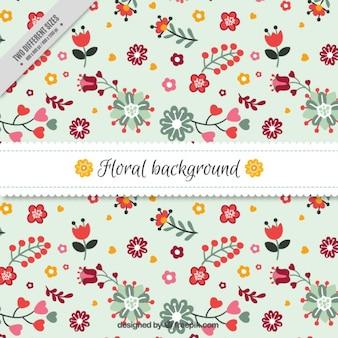 Piękno kwiatów w tle