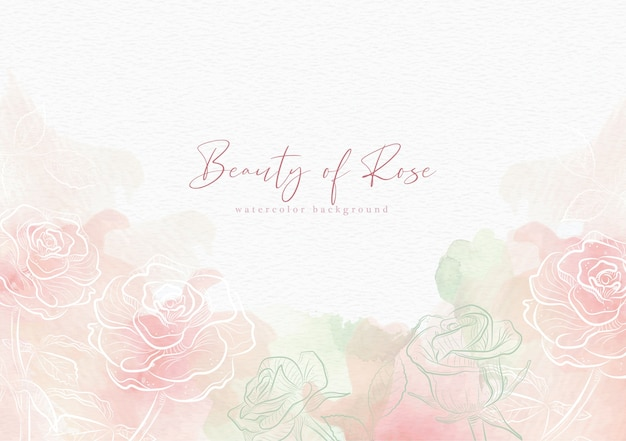 Piękno róży szablon