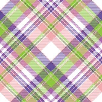 Piękno szkockiej kraty tkaniny tekstury bezszwowy wzór