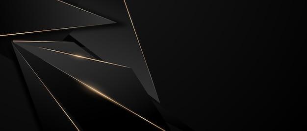Piękno złotego czarnego plakatu na abstrakcyjnym tle z dynamiką vip premium.