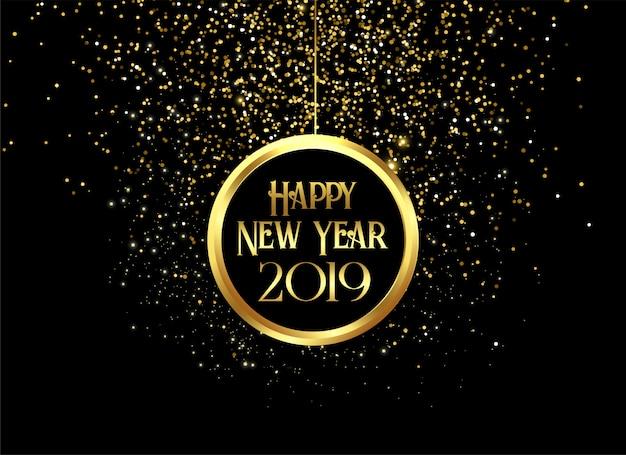 Piękny 2019 szczęśliwych nowy rok błyska
