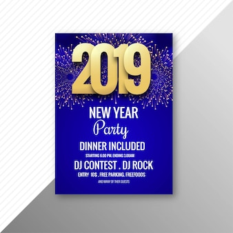 Piękny 2019 ulotki celebracja party szablon projektu