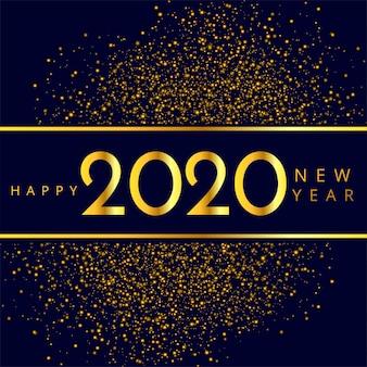 Piękny 2020 nowy rok połyskuje świętowanie wektor