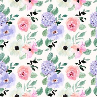 Piękny akwarela kwiatowy ogród wzór
