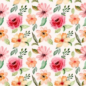 Piękny akwarela kwiatowy wzór