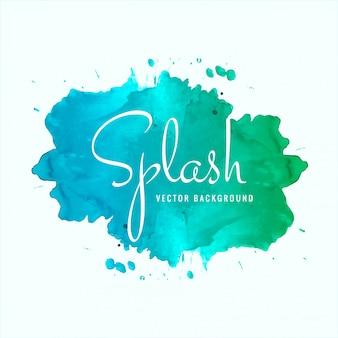 Piękny akwarela splash projekt wektor