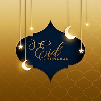 Piękny artystyczny projekt tła eid mubarak