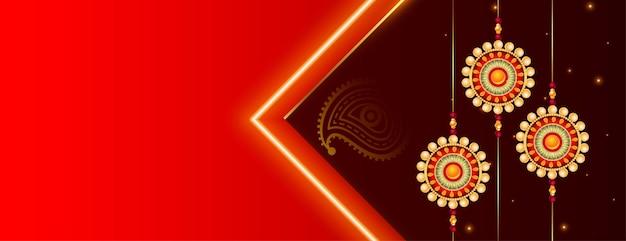Piękny baner festiwalu raksha bandhan z miejscem na tekst