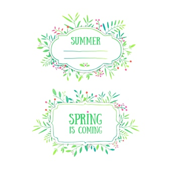 Piękny baner, karta, zaproszenie lub etykieta. tło wiosna i lato