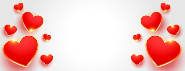 Piękny baner walentynki w stylu 3d z miejscem na tekst