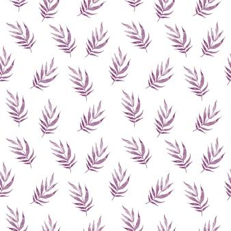 Piękny bezszwowy wektor tropikalny wzór z liśćmi palmowymi na białym tle