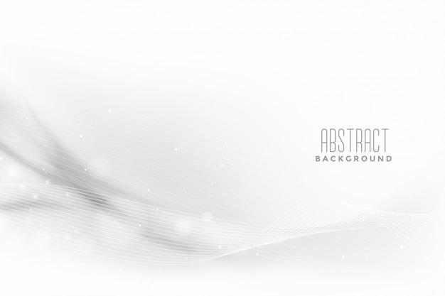 Piękny biały elegancki projekt banera