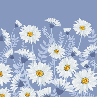 Piękny biały kwiat i błękitny liść w ogródzie.