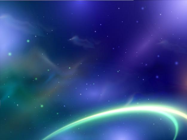 Piękny błyszczący streszczenie tło z neonowe oświetlenie efekt fali spirali.