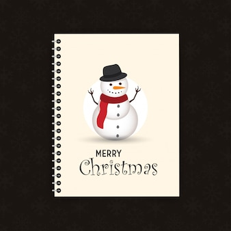 Piękny boże narodzenie snowman i santa clause tło z płaska konstrukcja