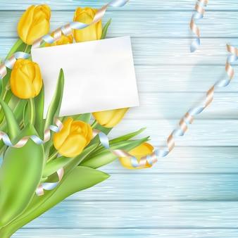 Piękny bukiet tulipanów.